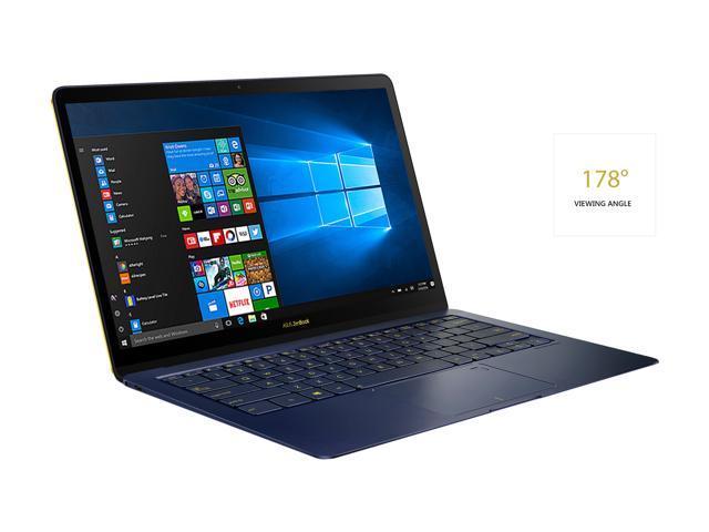 "ASUS ZenBook 3 Deluxe UX490UA 14"" FHD Ultraportable Laptop, Intel Core i7-8550U, 16 GB RAM, 512 GB NVMe SSD, Windows 10 Pro, Royal Blue"